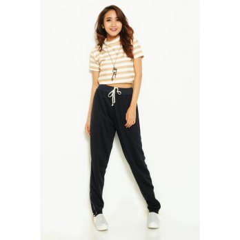 Kimberly Navy Okechuku Wanita / Jogger Pants / Celana Panjang / Fashion / Celana Training / Joger Sweatpants
