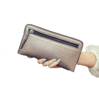 Women Fashion Ultrathin Zipper Long Wallet  Small Fresh Wallet Mobile Phone Bag