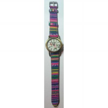 AMERIA TREND!! Jam Tangan Kanvas Kulit Denim FLOWER Fashion Analog