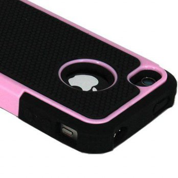 [holiczone] LliVEER ASleek Hard Soft High Impact Armor Case for Apple iPhone 4/4S - Pink/B/250023
