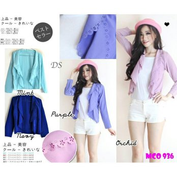 CARDIGAN 936 4 WARNA TWISCONE+TANKTOP PUTIH FIT TO L