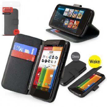 [holiczone] Orzly - Black Multi-Function Wallet Case Cover Pouch with In-Built Stand Funct/202334
