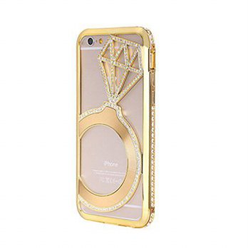[holiczone] YFWOOD iPhone 6 Case with Diamond, Luxury Crystal Rhinestone Bling Metal Frame/204624