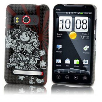 [holiczone] Disney disney officially licensed Houndstooth Mickey Mouse HTC Evo 4G Phone Ca/208553