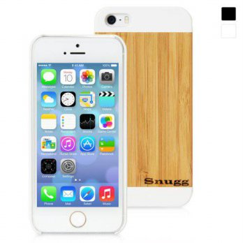 [holiczone] Snugg iPhone 5 / 5S / SE Ultra Thin Case in White with Real Bamboo Wood Rear H/213217