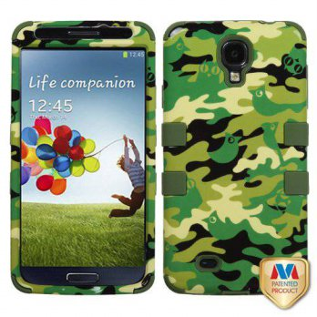 [holiczone] MyBat Green Woodland Camo Skin Hybrid 2 in 1 Case for Samsung Galaxy S4 S 4 Ru/214184