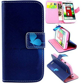 [holiczone] L70 Case, L70 Wallet Case,Gift_Source Brand Deluxe PU Leather Folio Wallet Fli/217912