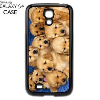 [holiczone] MYDply Golden labs litter puppies Samsung Galaxy S4 PLASTIC cell phone Case / /219282