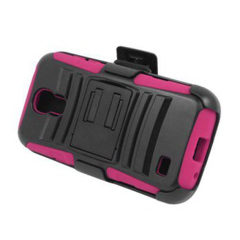 [holiczone] Eagle Cell Hybrid Skin Case with Holster and Stand for Samsung Galaxy S4 Mini /216424