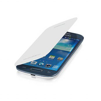 [holiczone] Samsung Galaxy S 3 Mini Flip Cover Folio Case White/220019