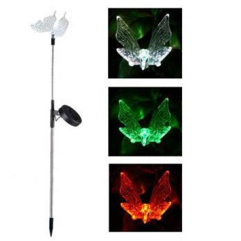 Lampu Taman LED Butterfly Solar Lawn Light - AA-SL-2056 - Silver