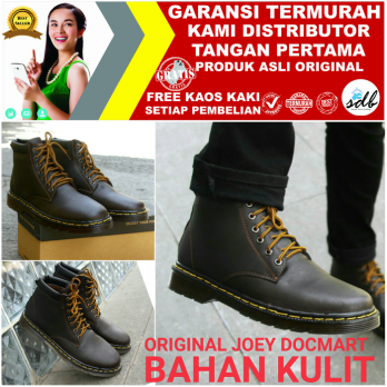 Original Boots Joey Dokmart Docmart Sepatu Casual Boot Bikers Cowboy IDG:008224