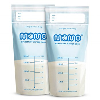 Momo Breast Milk Kantong Asi BPA Free - 180Ml