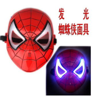 Topeng Spiderman Nyala Lampu Mask