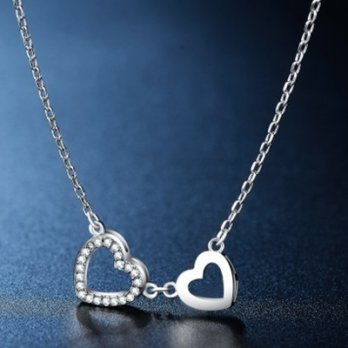 + Diamond pendant necklace 925 sterling silver necklace female soulmate 73hj20 [Milan] Gifts
