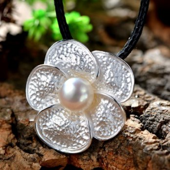 925 sterling silver necklace + pearl pendant necklace female romantic flowers 73hi41 [Milan] Gifts