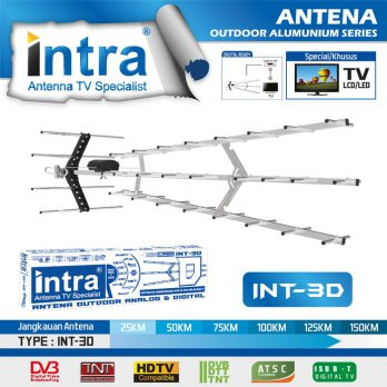 Antena TV Outdoor Analog dan Digital Intra INT 3D