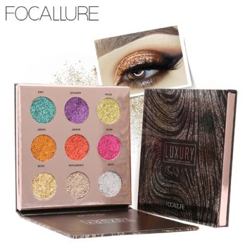 FOCALLURE 9 Color Glitter Eyeshadow