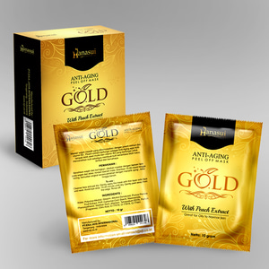 HANASUI GOLD PEEL OFF MASK MASKER HANASUI GOLD
