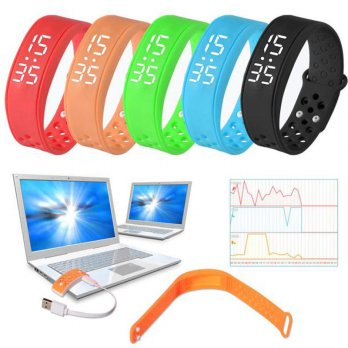 W6 Sports Health Pedometer Smart Wearable Wristband Wristband Watch Bracelet