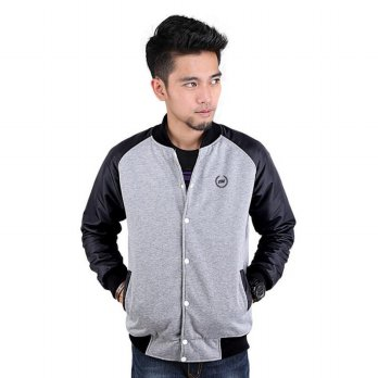 Jaket / Hoodies / Sweater Kasual Pria  Abu Catenzo HR 108 murah ori