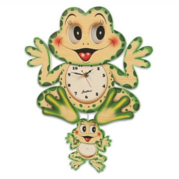 Bartolucci Moving Eyes Clock - Frog