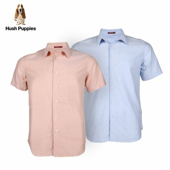 Hush Puppies Kemeja Casual Lengan Pendek Pria MB10501 Dean S/S | Available 2 Color