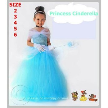 Baju Dress Anak Tutu Inspired Princess Cinderella