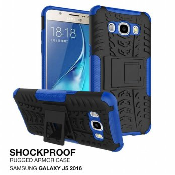 Samsung Galaxy J5 2016 Rugged Shockproof Armor Hybrid Hard & Soft Case - Biru