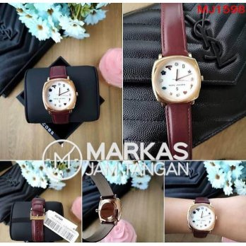 Jam Tangan Wanita Marc Jacobs Mandy MJ1597 / MJ1563 Leather ORIGINAL