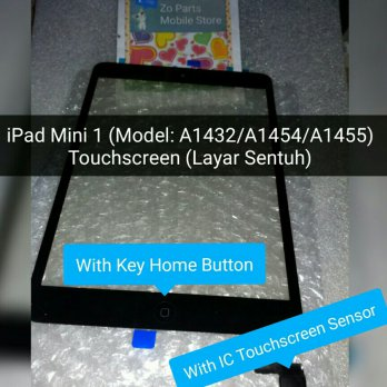 Touchscreen iPad Mini 1 (Model: A1432/A1454/A1455) (Original Glass With IC Touch)