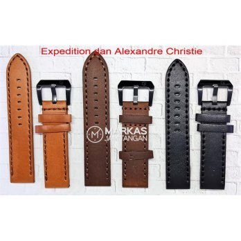 Tali Kulit Jam Tangan Expedition & Alexandre Christie AC Leather Strap