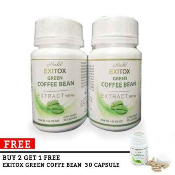 Exitox Green Coffee bean Extract 500Mg Pelangsing Alami Cepat