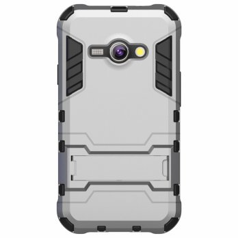 Case Iron Man Samsung J1 Ace J110 Stand Robot/Transformer(Hard Cover)