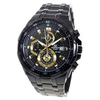 Jam Tangan Analog Chrono Casio Edifice 539 Black Gold