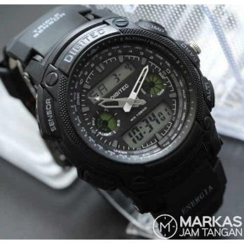 Jam Tangan Pria Digitec DG-2023 Double Time Rubber ORIGINAL