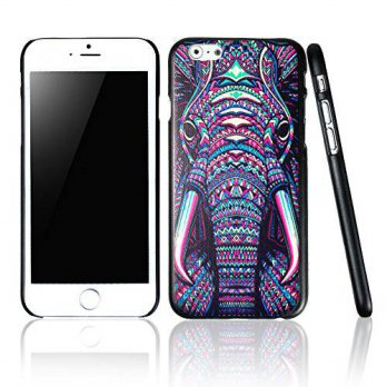 [holiczone] For iPhone 6 Case,IC ICLOVER Slim Design Black Frame PC Painted Pattern Hard B/207385