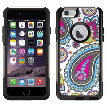 [holiczone] TrekSkins Skin Decal for Otterbox Commuter iPhone 6 Case - Fun Paisleys on Whi/203103