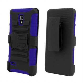[holiczone] BC Shell Case Armor Combo Black/Blue with Black Holster Belt Clip and Kick Sta/211009