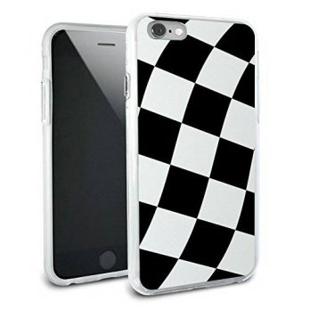 [holiczone] Graphics and More Checkered Racing Flag Protective Slim Hybrid Rubber Bumper C/220152