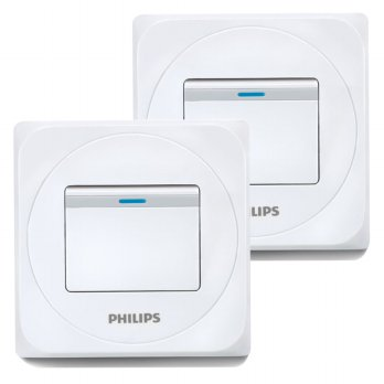 [1+1] Philips Simply 1 Gang 1Way Switch