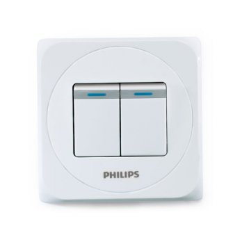 Philips Simply Switches 2 Gang 1 Way