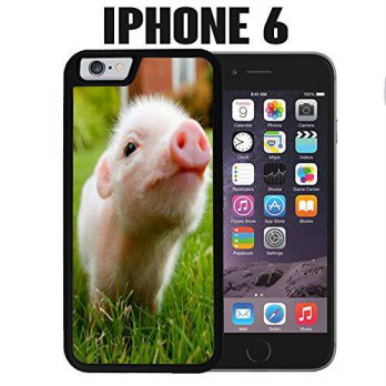 [holiczone] Casematic iPhone Case Cute Piglett Baby Pig for iPhone 6 Plastic Black (Ships /220485