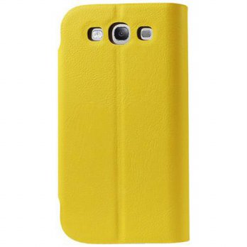 [holiczone] Reiko Magnet Flip Smooth Leather Case for Samsung Galaxy S3 I9300 - Retail Pac/221856