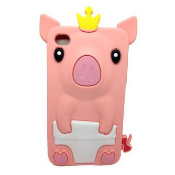 [holiczone] LliVEER Lovely Cute Pig Silicone Soft Rubber Cover Back Case for Apple Ipod To/225533