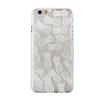 [holiczone] Iphone 6 Case, Shensee Ultra Thin Slim White Pineapple Plastic Back Case Cover/230480