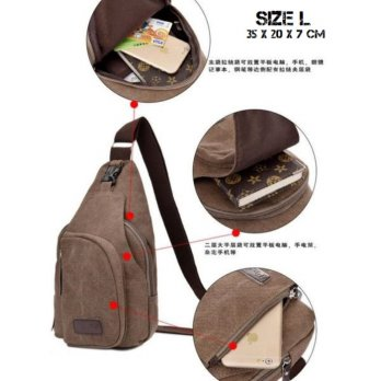 Canvas Chest Bag Style