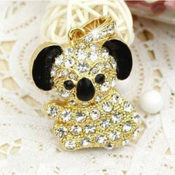 [holiczone] One by One Shop 8G Crystal Diamond Koala Bear USB Flash Drive with Necklace(Go/182494