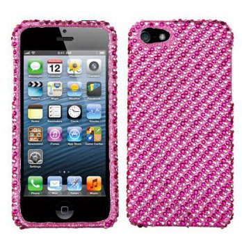 [holiczone] Aimo IPHONE5HPCDM385NP Dazzling Diamante Bling Case for Apple iPhone 5 - Retai/180229