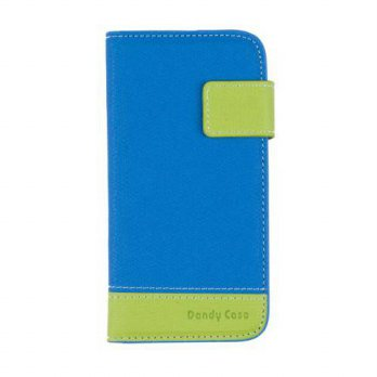 [holiczone] Blue / Green Premium PU Leather Wallet Case for Apple iPhone 5S / 5 (AT&T, Ver/185427